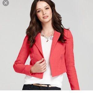 Ann Taylor modern tweed cropped jacket